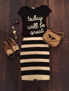I'm loving pairing skirts with Tshirts that have funky sayings.