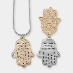 Kathy Bransfield Hamsa Power Protection Love Necklace