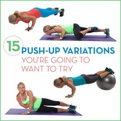 Any fitness class or training session will probably challenge you with pushups- but some push-up variations you will want to try at home before you get there! #fitness #workouts