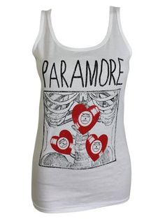 Reveal your deepest feeling with this gorgeous ladies vest top which features artwork from Paramore. With the band name across the chest and a framed x-ray of ribs covered with red heart records, this cute top is sure to fill you full of love for the American rock band. Officially licensed and made from 100% cotton.