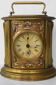 Ovale koperen wekker -- circa 1900