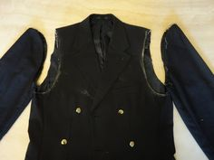 How to alter a jacket that is too large (also how to restyle a man's jacket to fit a woman)