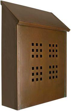 arts and crafts mailbox plan | Craftsman mailbox in brass from House of Antique Hardware.