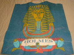 REAL COOL Vintage shopping bag D.H. Holmes (New Orleans) KING TUT Exhibit, NOMA