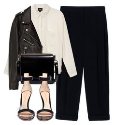 """Untitled #6410"" by laurenmboot ❤ liked on Polyvore featuring Sportmax, Monki, Jakke, Zara and Gianvito Rossi"