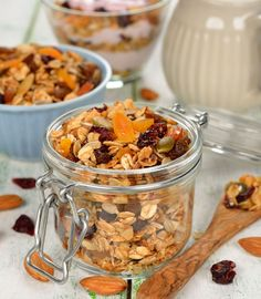 Granola, Cereal, Cooking Recipes, Snacks, Vegan, Cookies, Breakfast, Cake, Sweet