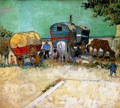 Camp de Bohémiens. Van Gogh, 1888. (Alternate reproduction, larger). Original: http://cp12.nevsepic.com.ua/71/1352765879-1888-van-gogh-camp-de-bohgmienshuile-sur-toile-45x51-cm.jpg
