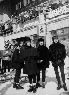 The Beatles in Austria during the filming of Help!, 1965