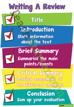 Writing A Review Poster | Teach Starter - Teaching Resources
