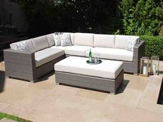grey wicker outdoor furniture