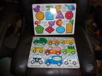 Melissa and Doug Wooden Puzzles Set of 2 Free Shipping