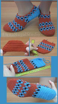 Следки вяжутся крючком. Следки подойдут на размер ноги 38-39 (24-25 см). Понадобятся остатки пряжи трёх цветов 80-90 г: пряжа 50% шерсть, 50% акрил, 300 м в 100 г ( также можно использовать пряжу 100% шерсть, 300 м в 100 г ). Крючок 2,0-2,5 -3,0. Приятного Вам просмотра! Easy Crochet Slippers, Crochet Baby Dress Pattern, Crochet Slipper Pattern, Crochet Sandals, Crochet Flower Patterns, Crochet Designs, Crochet Baby Jacket, Crochet Baby Boots, Booties Crochet