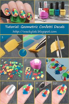 Wacky Laki: Tutorial: Geometric Confetti Decals- HOW NEAT!!!!
