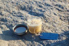 Handmade, all-natural sea salt body scrub