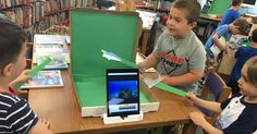 Check this out! Teachers are brilliant. Pizza box Portable Green Screens http://libraryadventuring.blogspot.com/2017/05/portable-green-screens-in-library.html?utm_campaign=crowdfire&utm_content=crowdfire&utm_medium=social&utm_source=pinterest #specialeducation #assistivetechnology