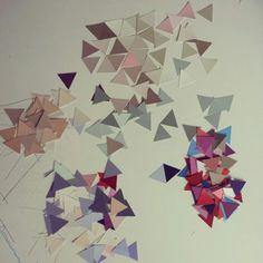 TRIANGLES (serie n° 02) 2013  http://www.marucarranza.com/triangles-serie-n-02-2013/  #triangle #triangulo #dreieck #marucarranza #collage #paper #berlin