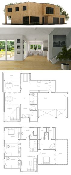 CH358, Floor area: 3444 sq ft,  Building area: 2056 sq ft,  Bedrooms: 4,  Bathrooms: 3,  Floors: 2,  Height: 19′ 8″,  Width: 61′ 4″,  Depth: 49′ 3″