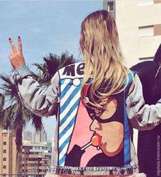 Пиджаки, жакеты ручной работы. Джинсовая куртка с рисунком. Ольга 89670405003 (nigelola). Ярмарка Мастеров. Джинсовый, джинсовка с принтом