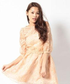 Mercuryduo フラワーオーガンジー トップス / flower lace tops perfect for the spring on ShopStyle