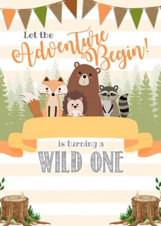 Shop Woodland Birthday Party Invitation Invite Natural created by PerfectPrintableCo. Boys First Birthday Party Ideas, Wild One Birthday Party, 1st Boy Birthday, Boy Birthday Parties, Birthday Party Invitations, Fairy Birthday, Woodland Party, Baby, American Art