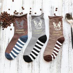 08f290389 Bonne chance - Frenchie Socks