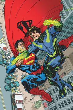 Superman vs Kryptonite Man