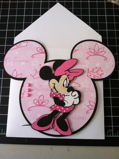 Minnie Mouse handmade card