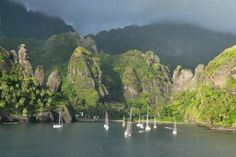March 19th - The Marquesas Islands, French Polynesia * The remote Marquesas, the South Pacific islands where Paul Gauguin lived and painted, still offer a taste of the untainted tropics.  Forest-cloaked cliffs plunge into the rocky sea, and eerie volcanic spires reach skyward.