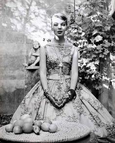'Nico' Päffgen by Herbert Tobias, Cocktail Dress by Heinz Ostergard, Berlin 1956