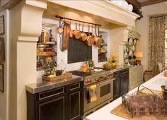 Large Kitchen Cabinets, Kitchen Cabinets Showroom, Kitchen Hoods, Grey Cabinets, Copper Kitchen, New Kitchen, Stone Kitchen, Copper Pots, Kitchen Oven