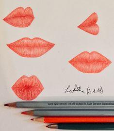 Variation of drawn lips from Larissa Junghans