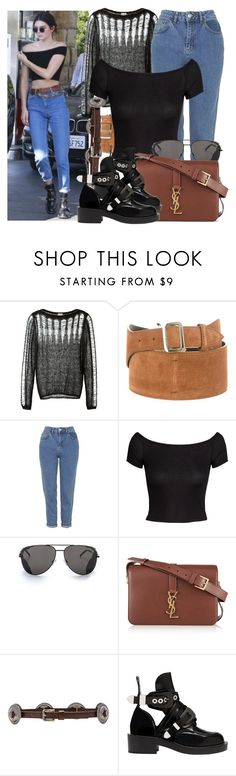 """""""Kendall Jenner"""" by justadream133 ❤ liked on Polyvore featuring Yves Saint Laurent, Topshop, H&M, Lovestrength, Balenciaga, jenner and kendall"""