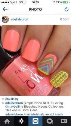 Beautiful #neon nails