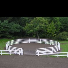 I love how the round pen is right off the arena;) needs another gate on the other side I think