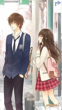 Ay k lindo <trez Anime Couples Drawings, Anime Couples Manga, Chica Anime Manga, Manga Couple, Anime Love Couple, Cute Couple Art, Cute Couples, Kawaii Anime Girl, Anime Art Girl