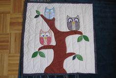 Owl family tree quilt