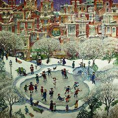 "iCanvas ""City Skaters"" Canvas Wall Art by Bill Bell | AllModern"