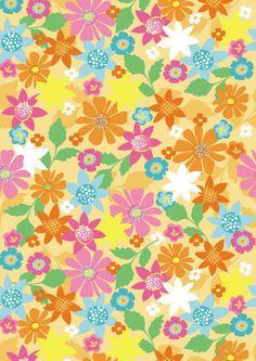 Floral multi scrapbook paper (cliquer au dessus de l'image pour ouvrir PDF)