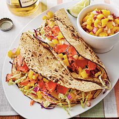 Sweet-and-Spicy Salmon Tacos Recipe