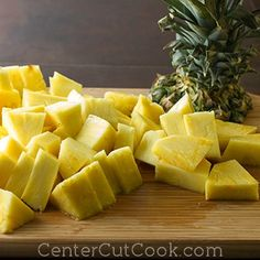 A step by step how-to guide for cutting a pineapple, includes pictures for each step!