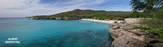 Bay and beach at Curacao.