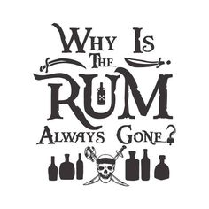 I'm the Reason the Rum Is Always Gone, Disney's Pirates of the Caribbean cuttable SVG Pirate Crafts, Johny Depp, Boat Names, Pirate Life, Cricut Creations, Disney Crafts, Disney Shirts, Disney Fonts, Pirates Of The Caribbean