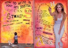 How to write in your art journal