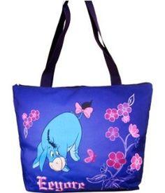 Eeyore purple tote bag