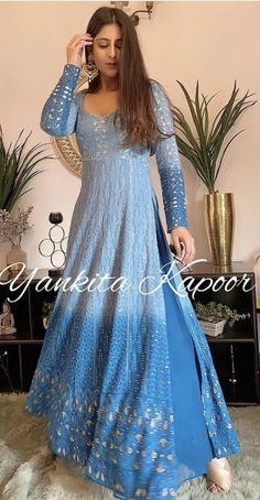 Party Wear Indian Dresses, Pakistani Dresses Casual, Designer Party Wear Dresses, Indian Gowns Dresses, Indian Bridal Outfits, Kurti Designs Party Wear, Dress Indian Style, Indian Fashion Dresses, Pakistani Dress Design
