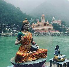 Rishikesh Yoga, Rishikesh India, Shiva Hindu, Shiva Shakti, Shiva Lord Wallpapers, Indian Goddess, Good Morning Gif, Durga, Hinduism
