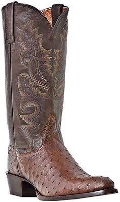 Dan Post DP2328 - Mens 13 Inch Genuine Ostrich Tobacco Tempe Boots