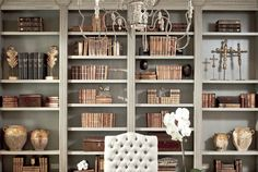 This a great guide on how to decorate my bookshelves at the ranch. First step, buy more books.