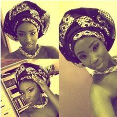 Yes this turban looks great over her natural hair!   www.talktresses.com