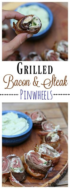 Serve up a man sized meal when you #GrillLegendary with these easy to make Grilled Bacon and Steak Pinwheels! #ad